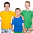 Three fashion cheerful little friends — Stock Photo #48619649