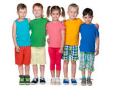 Group of five fashion children — Stock Photo