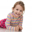 Little girl in striped sweater — Stock Photo #8144557