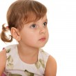 Serious little girl is looking away — Foto Stock #8982680