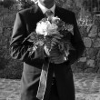 Groom waiting for the bride - Stock Photo