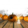 Halloween background - 3D - Stock Photo