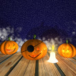 Halloween background - 3D — Stock Photo