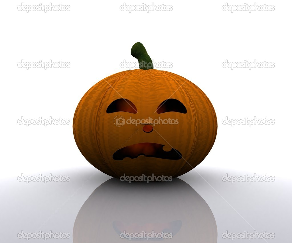Halloween Pumpkin - 3D — Stock Photo #13137333