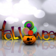 3D background of halloween - pumpkin with licks licks — Stock Photo