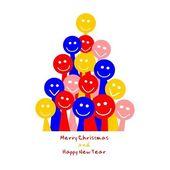 Merry christmas tree — Stock Vector