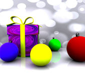Christmas Background - 3D — Stock Photo