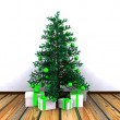 Stock Photo: Christmas background with decorated Christmas tree