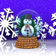 Nice glass ball with Snowman — Stock Photo #14828241