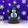 Nice glass ball with Snowman — Stock Photo #14828355