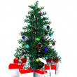Decorated Christmas tree - 3D — Stock Video