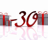 Christmas discounts - 3D — Stock fotografie