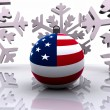 Christmas ball with flag - 3D — Stock Photo #15787805