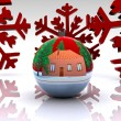 Christmas ball decorated - 3D — Stock Photo #15787849