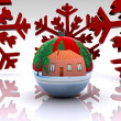 Stock Photo: Christmas ball decorated - 3D
