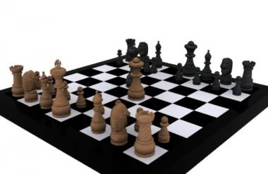 3D Chess — Video Stock