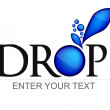 Vector de stock : Written drop