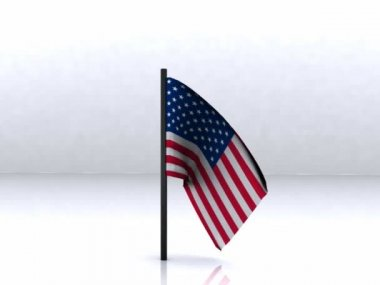 USA Flag - 3D — Stock Video