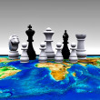 Chess on the world - 3D — Stock Photo