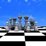 3d illustration - Chess — Stock Photo