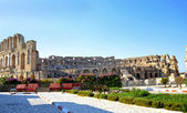 Roman amphitheater in the city of El Jem - Tunisia, Africa — Photo