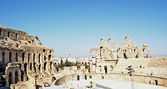 Roman amphitheater in the city of El Jem - Tunisia, Africa — Stock Photo