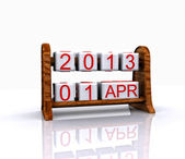 Datum - 1 april, påsk, 3d — Stockfoto