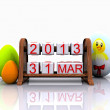 March 31, Easter — Foto de Stock