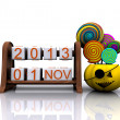 November 1, Halloween 3D — Foto de Stock