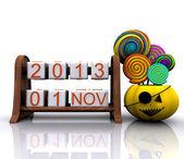 1. listopadu, halloween 3d — Stock fotografie