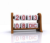 Date - December 8 — Stock Photo