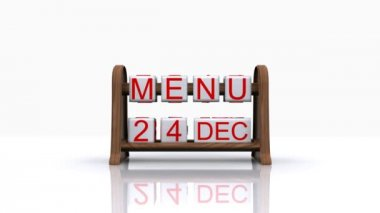 Menu of the day Christmas — Stock Video