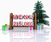 Menu - Merry Christmas — Stock Photo