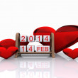 Valentine's Day 2014, — Stock Photo