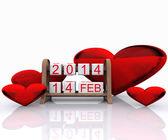 Valentine's Day 2014, — Stock Photo