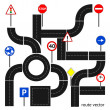 Path with road signs — Stock Vector #23392526