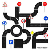 Path with road signs — Stock vektor