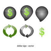 Abstract symbol - dollar — Stock Vector