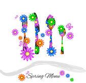 Menú de primavera — Vector de stock