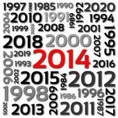 2014 — Vettoriale Stock