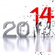 New year ... 2014 - 3D — Stock Photo