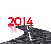 Yeni yıl 2014 - 3d — Stok fotoğraf
