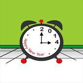 新しい年、2014 — ストックベクタ