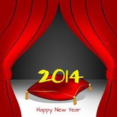On stage the new year, 2014 — Stock Vector
