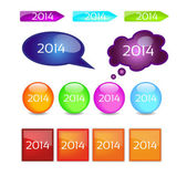Buttons 2014 — Stock Vector