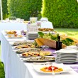 Stock Photo: Outdoor banquet