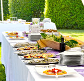 Outdoor banquet — Stock Photo