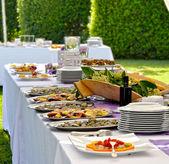 Outdoor banquet — Stock Photo