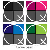 Logo abstract initial — Stock Vector