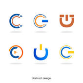 "Logo abstract initial ""C"" — Stock Vector"